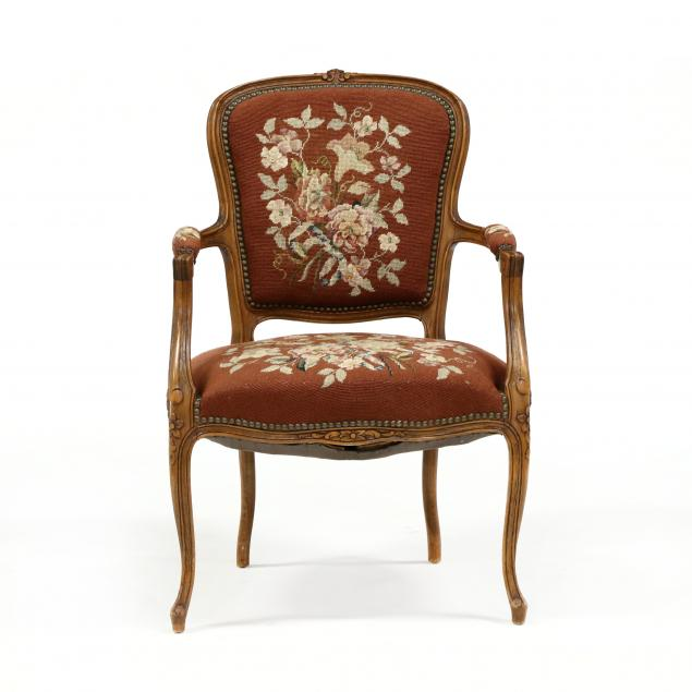 louis-xv-carved-fruitwood-fauteuil
