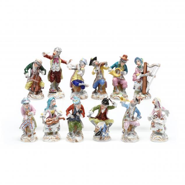a-twelve-piece-dresden-porcelain-monkey-band