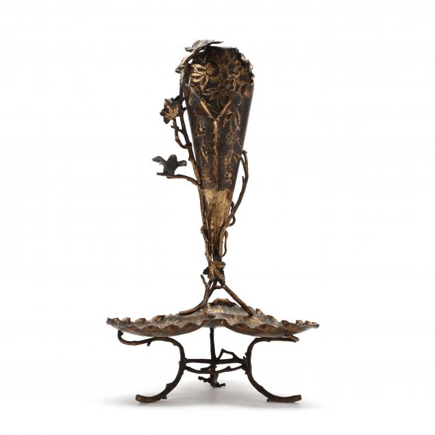 an-aesthetic-period-gilt-and-patinated-metal-epergne