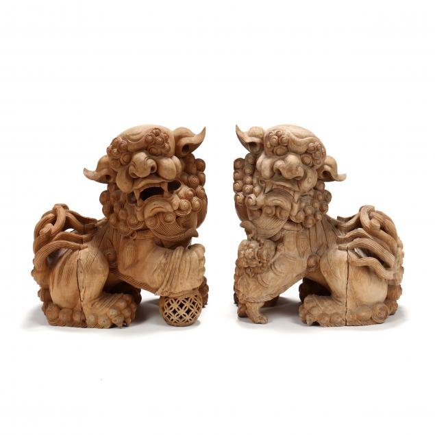 a-pair-of-japanese-carved-wooden-i-komainu-i-guardian-dogs