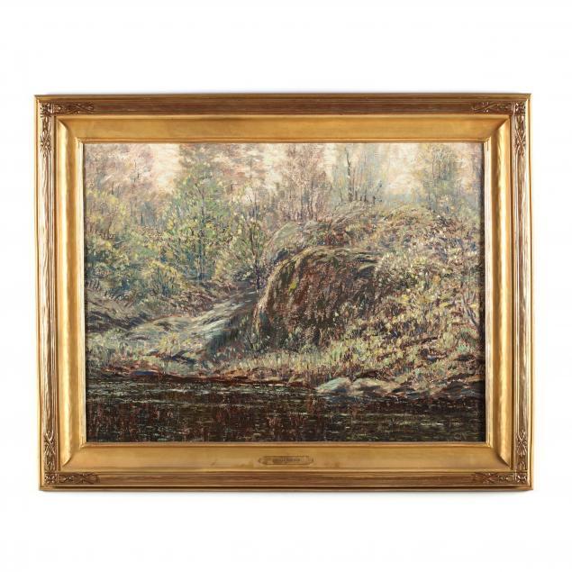 leonard-ochtman-ct-1854-1934-i-hillside-in-spring-i