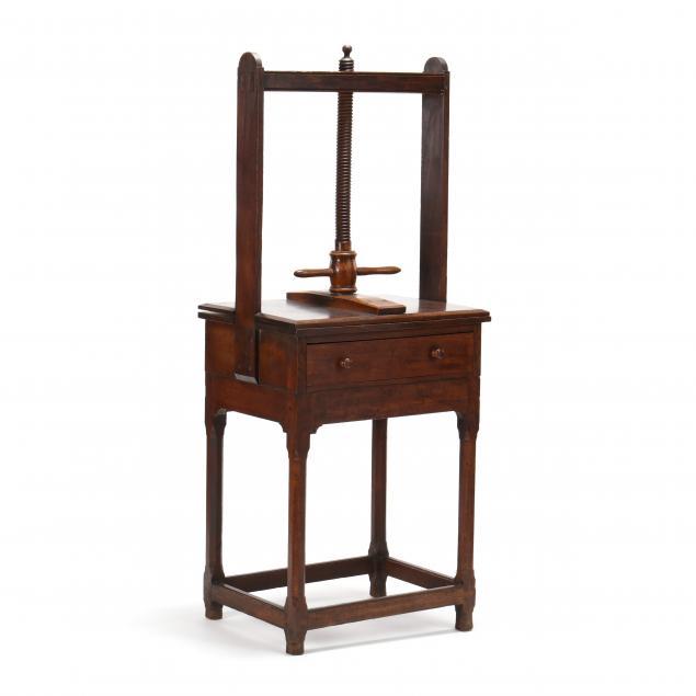 antique-english-oak-book-press