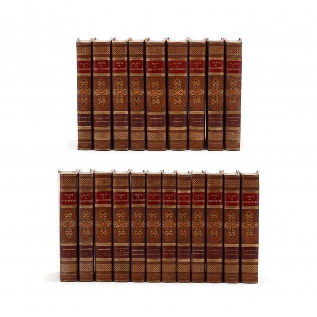 early-19th-century-set-of-shakespeare-in-later-fine-leather-binding