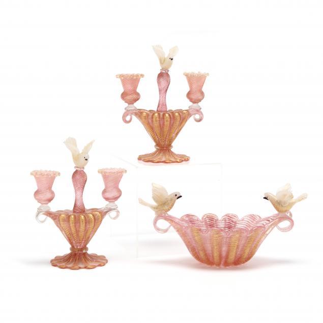 vintage-venetian-glass-garniture-set