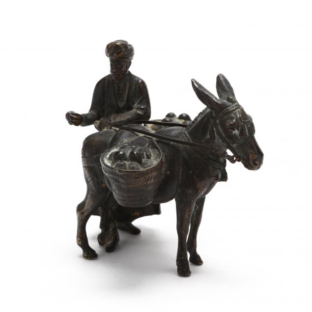 small-orientalist-bronze-of-figure-with-donkey