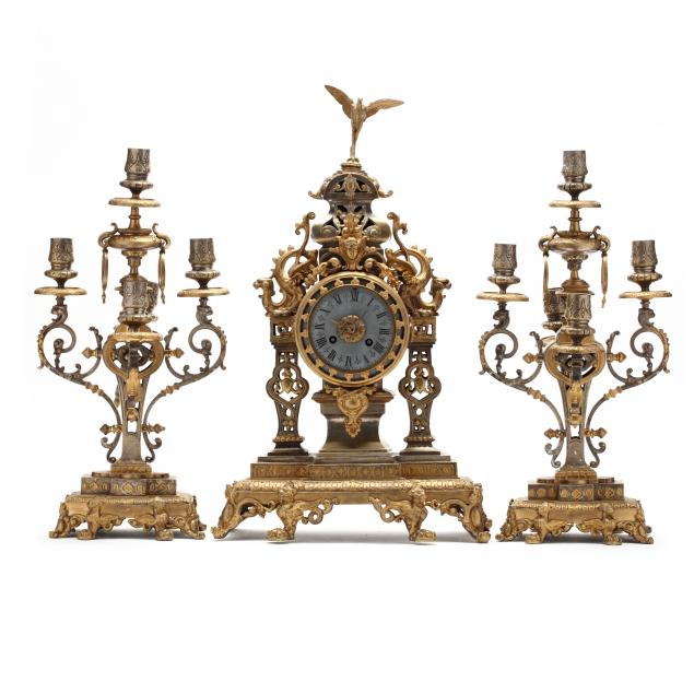 antique-continental-clock-garniture
