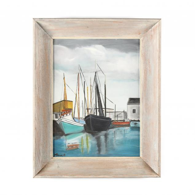 a-vintage-harbor-scene-painting-by-m-powell