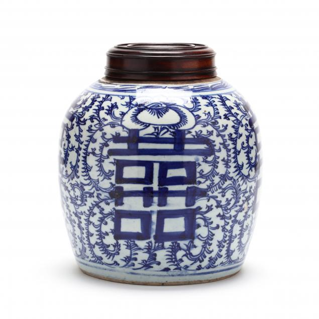 a-chinese-blue-and-white-double-happiness-ginger-jar-with-cover