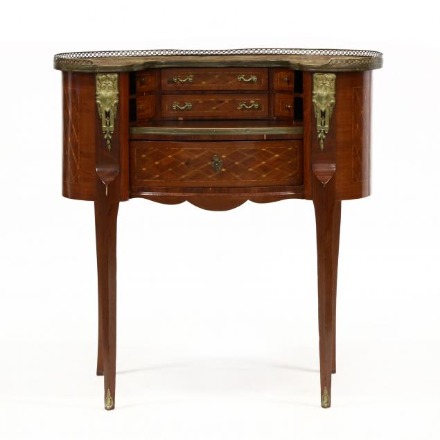 french-tall-marble-top-kidney-shaped-desk