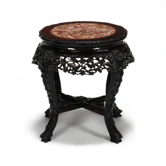 antique-chinese-marble-top-low-table