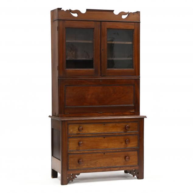 american-late-federal-walnut-secretary-bookcase