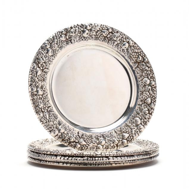 five-sterling-silver-bread-plates