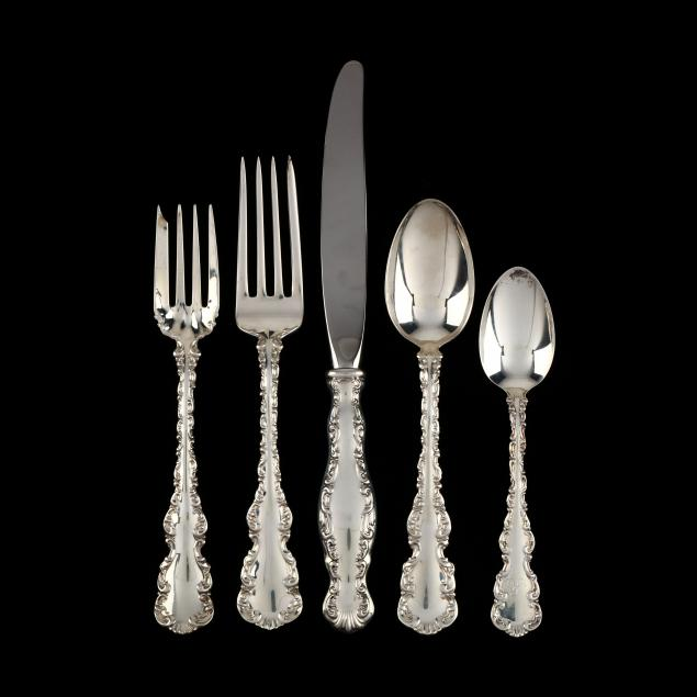 gorham-whiting-louis-xv-sterling-silver-flatware-service