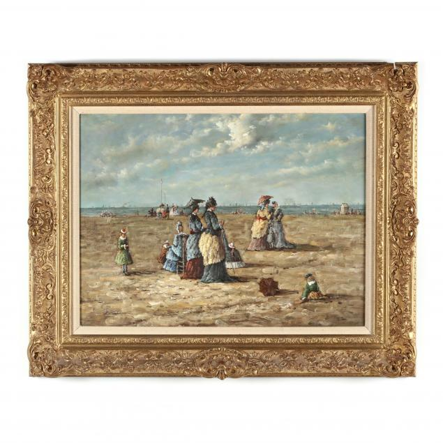manner-of-eugene-boudin-french-1824-1898-on-the-beach