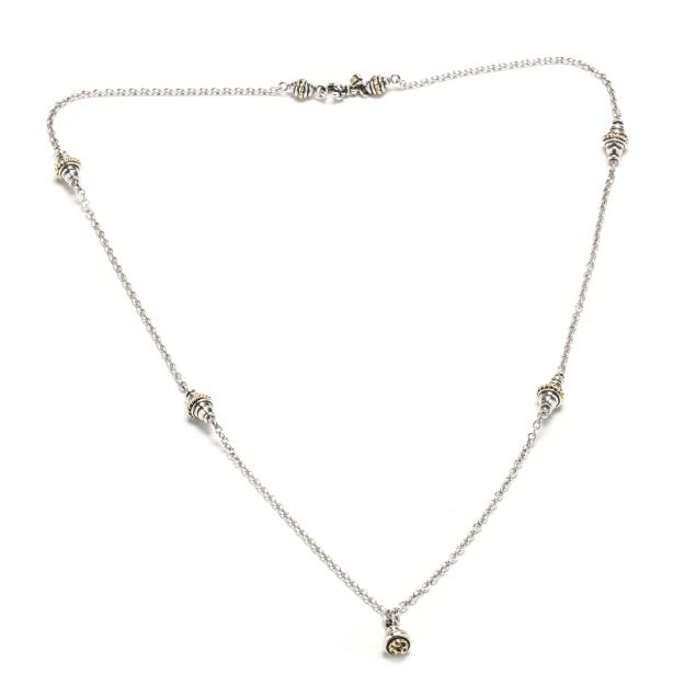 sterling-silver-and-18kt-gold-necklace-david-wysor