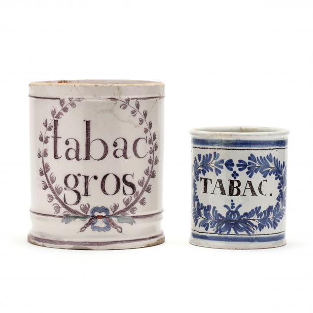 two-antique-delft-tobacco-jars