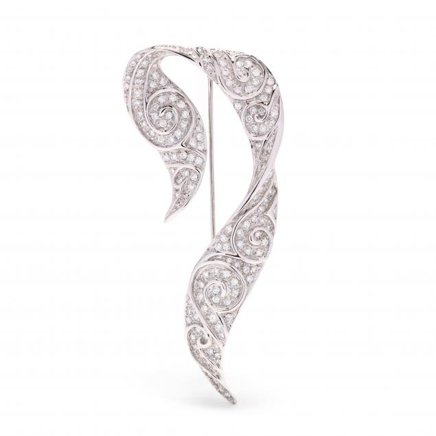 18kt-white-gold-and-diamond-ribbon-brooch