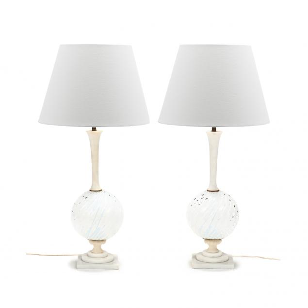 pair-of-vintage-murano-glass-and-marble-table-lamps