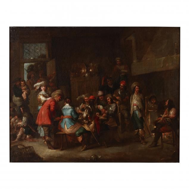 dutch-school-17th-century-a-guardroom-interior-with-soldiers-in-mixed-company