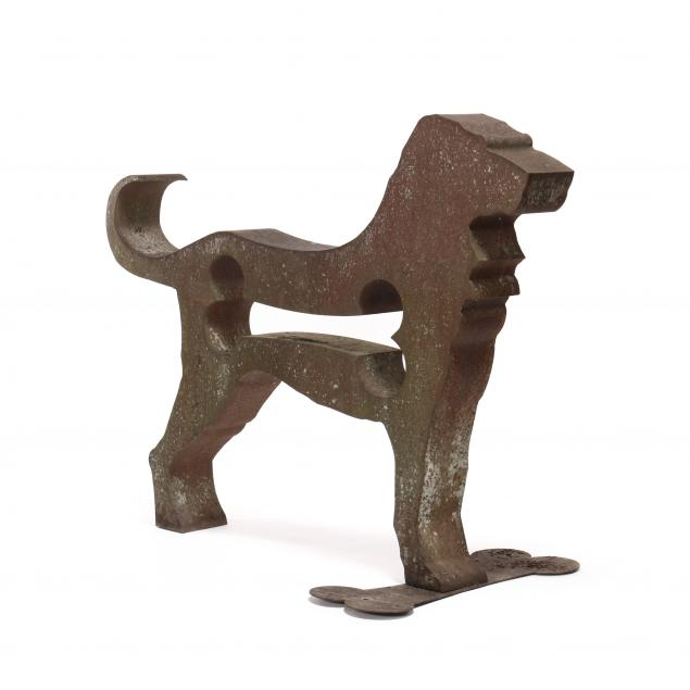 dale-rogers-ma-20th-century-large-i-american-dog-i-sculpture