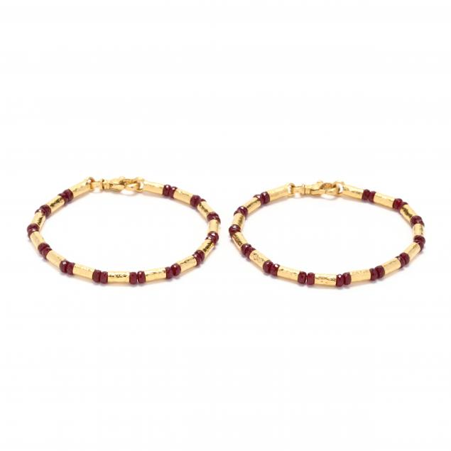 pair-of-high-karat-gold-and-gemstone-bracelets-gurhan