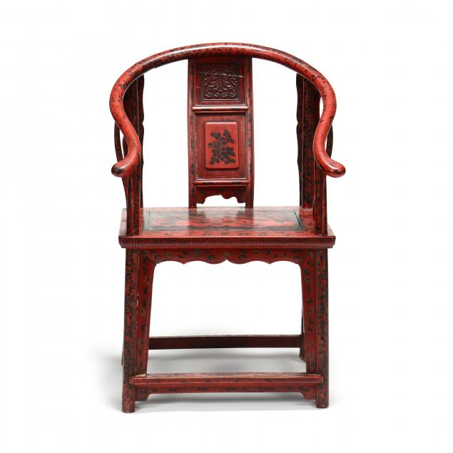 a-chinese-red-lacquered-horseshoe-armchair