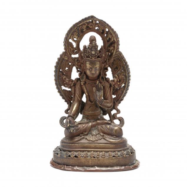 a-tibetan-gilt-bronze-sculpture-of-manjushri
