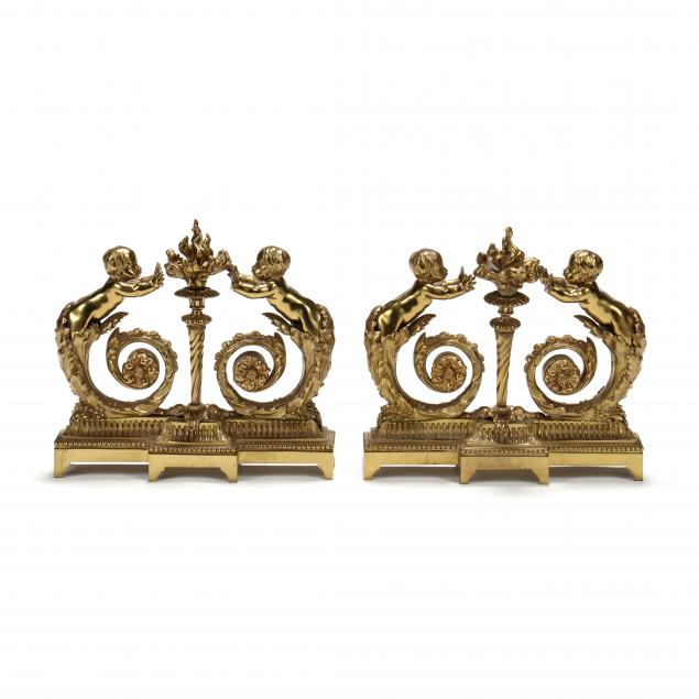 pair-of-louis-xvi-style-dore-bronze-figural-chenets