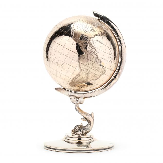 a-german-sterling-silver-desk-top-globe