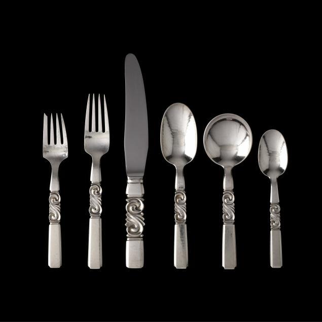 georg-jensen-scroll-sterling-silver-flatware-service