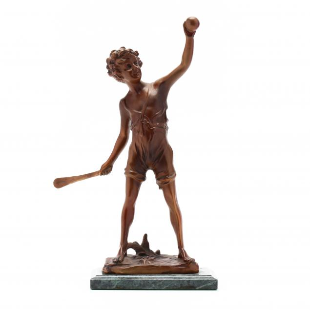 after-franz-iffland-german-1862-1935-bronze-boy-playing-paddle-ball