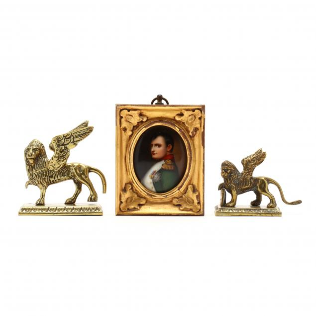 miniature-portrait-of-napoleon-and-brass-griffins