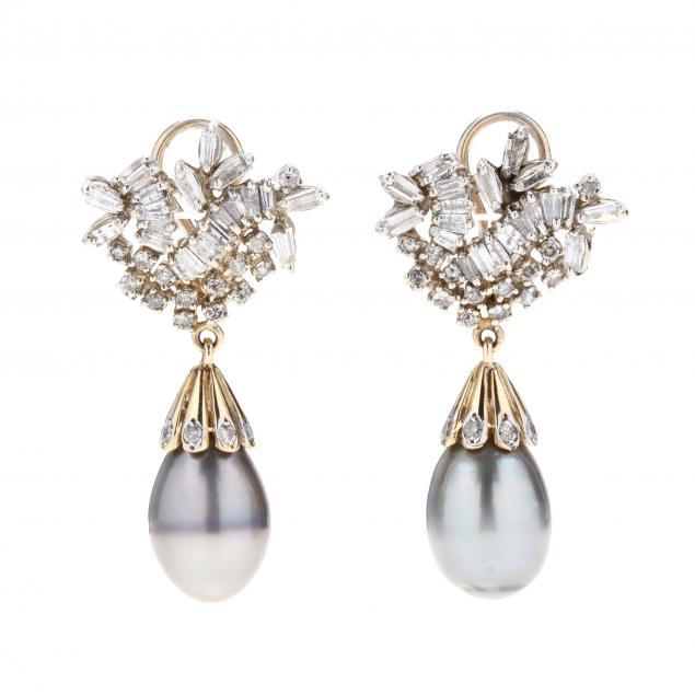 14kt-gold-diamond-and-tahitian-pearl-drop-earrings