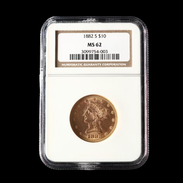 1882-s-10-liberty-head-gold-eagle-ngc-ms62