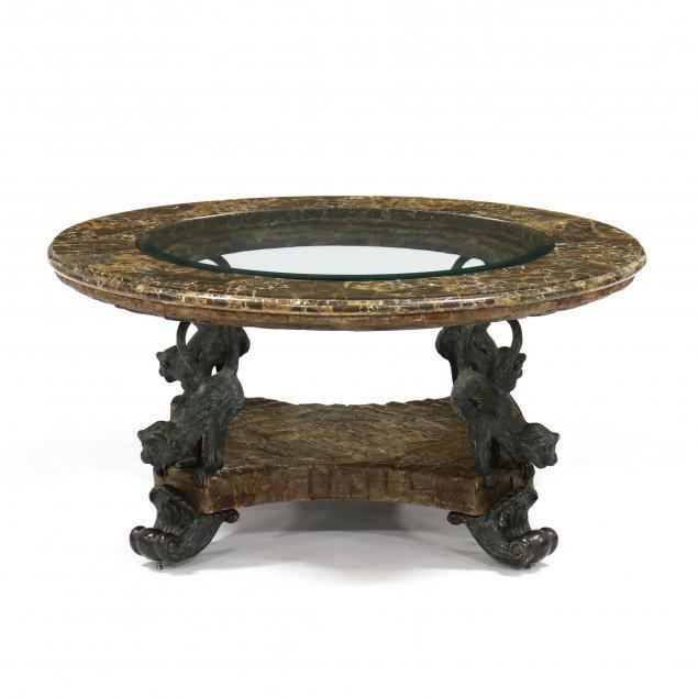 maitland-smith-monkey-themed-coffee-table