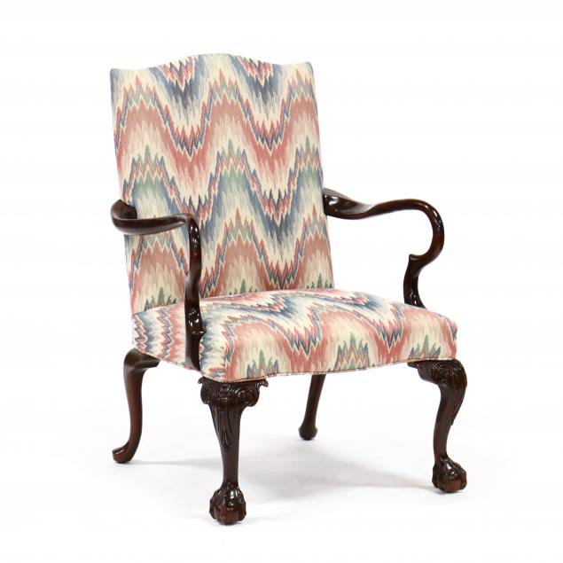 chippendale-style-mahogany-lolling-chair