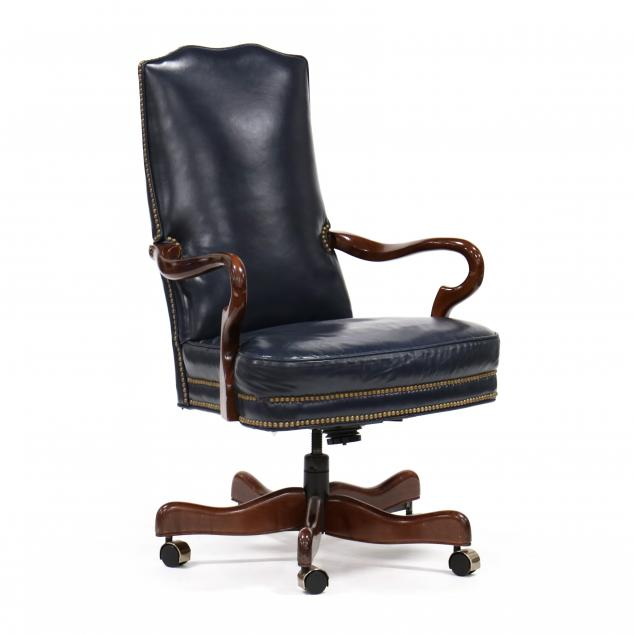 queen-anne-style-leather-office-chair