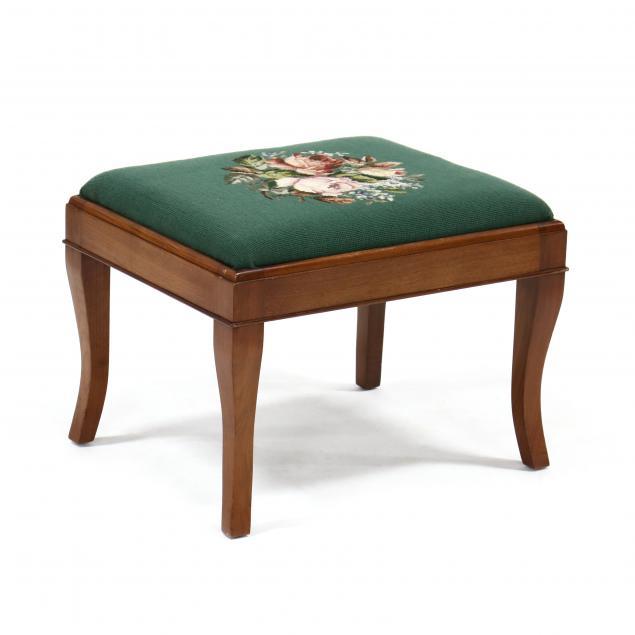 mahogany-needlepoint-stool