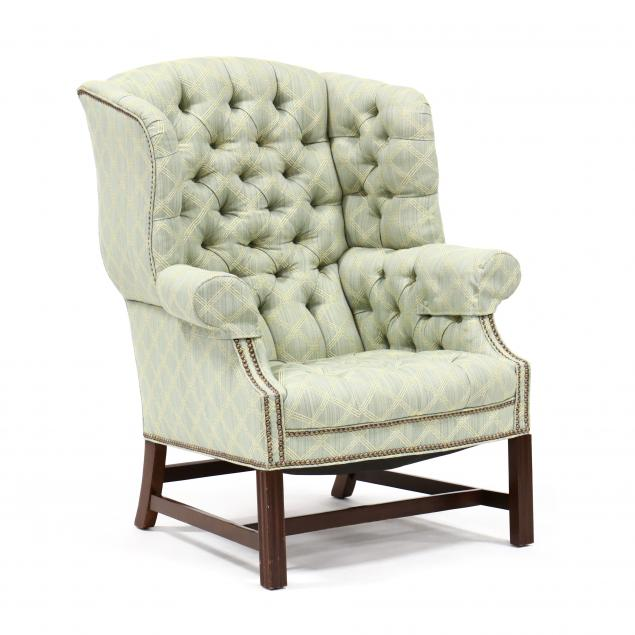 chippendale-style-tufted-easy-chair