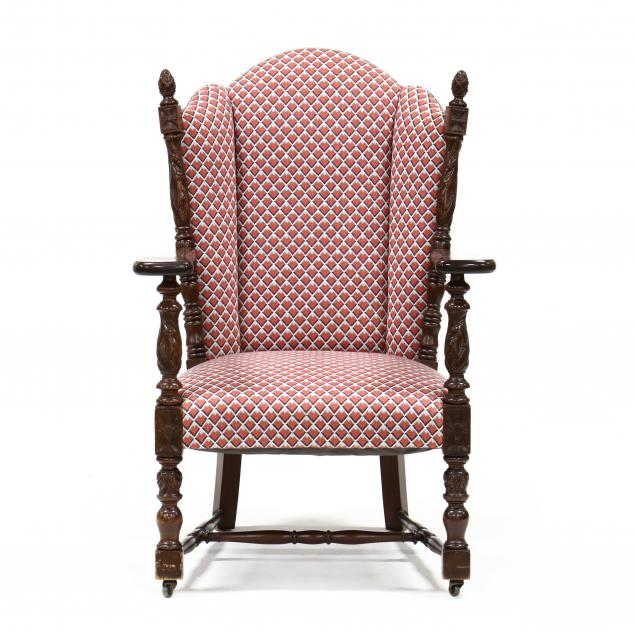 colonial-revival-carved-mahogany-armchair