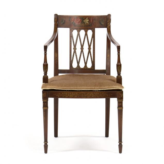 adam-style-painted-mahogany-armchair