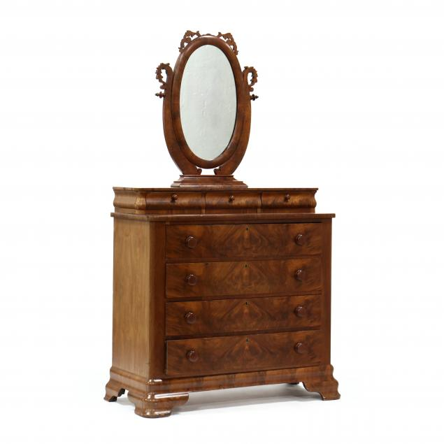 american-classical-mahogany-chest-of-drawers-with-mirror