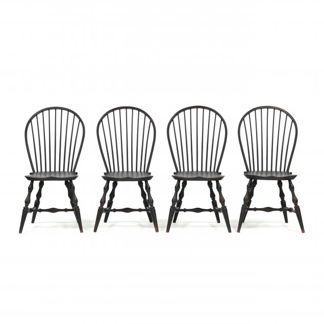 lawrence-crouse-wv-set-of-four-windsor-bow-back-side-chairs