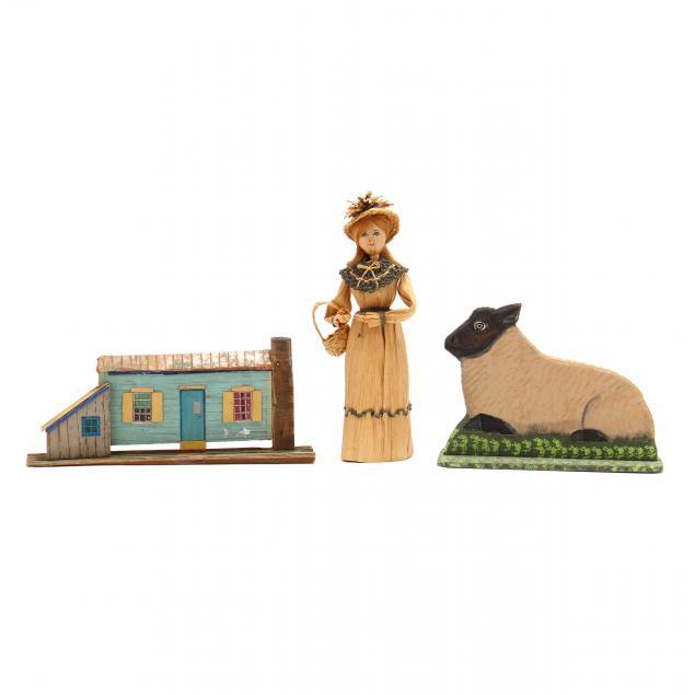 three-folk-art-items