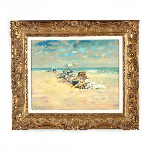 marcos-blahove-ukraine-ga-1928-2012-i-beach-scene-with-baby-i