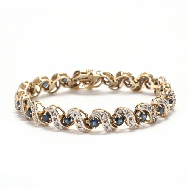 14kt-bi-color-gold-sapphire-and-diamond-bracelet