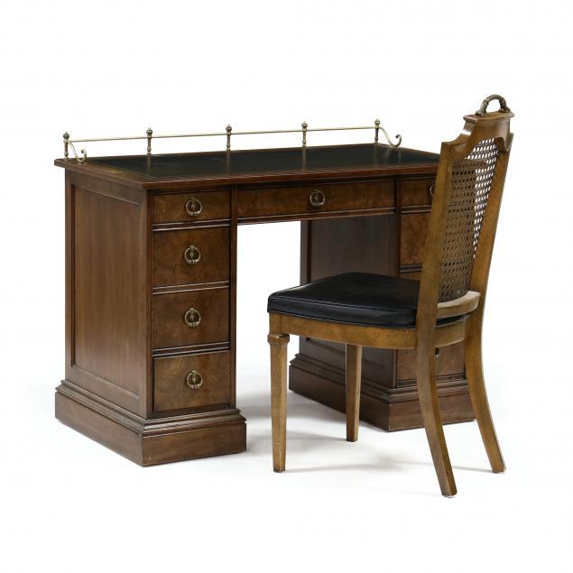 sligh-diminutive-burlwood-kneehole-desk-and-chair