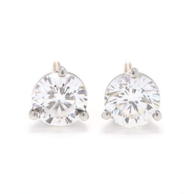 pair-of-white-gold-diamond-ear-studs