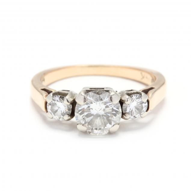 14kt-gold-and-three-stone-diamond-ring