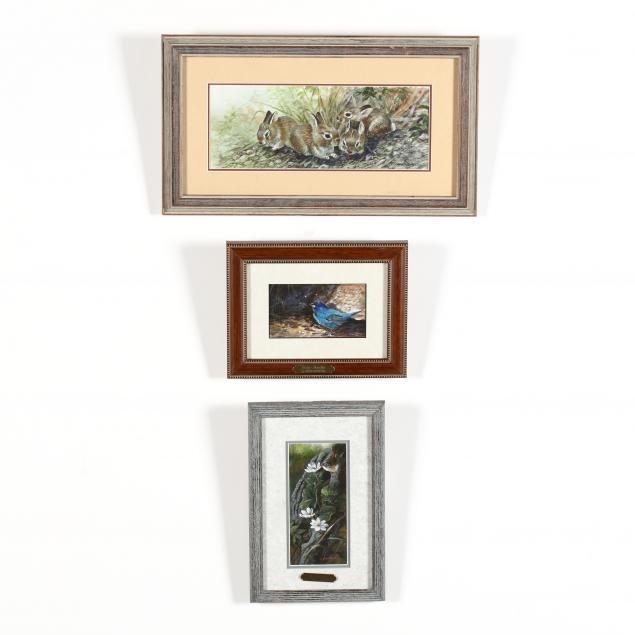 gamini-ratnavira-sri-lanka-ca-b-1949-three-original-watercolors